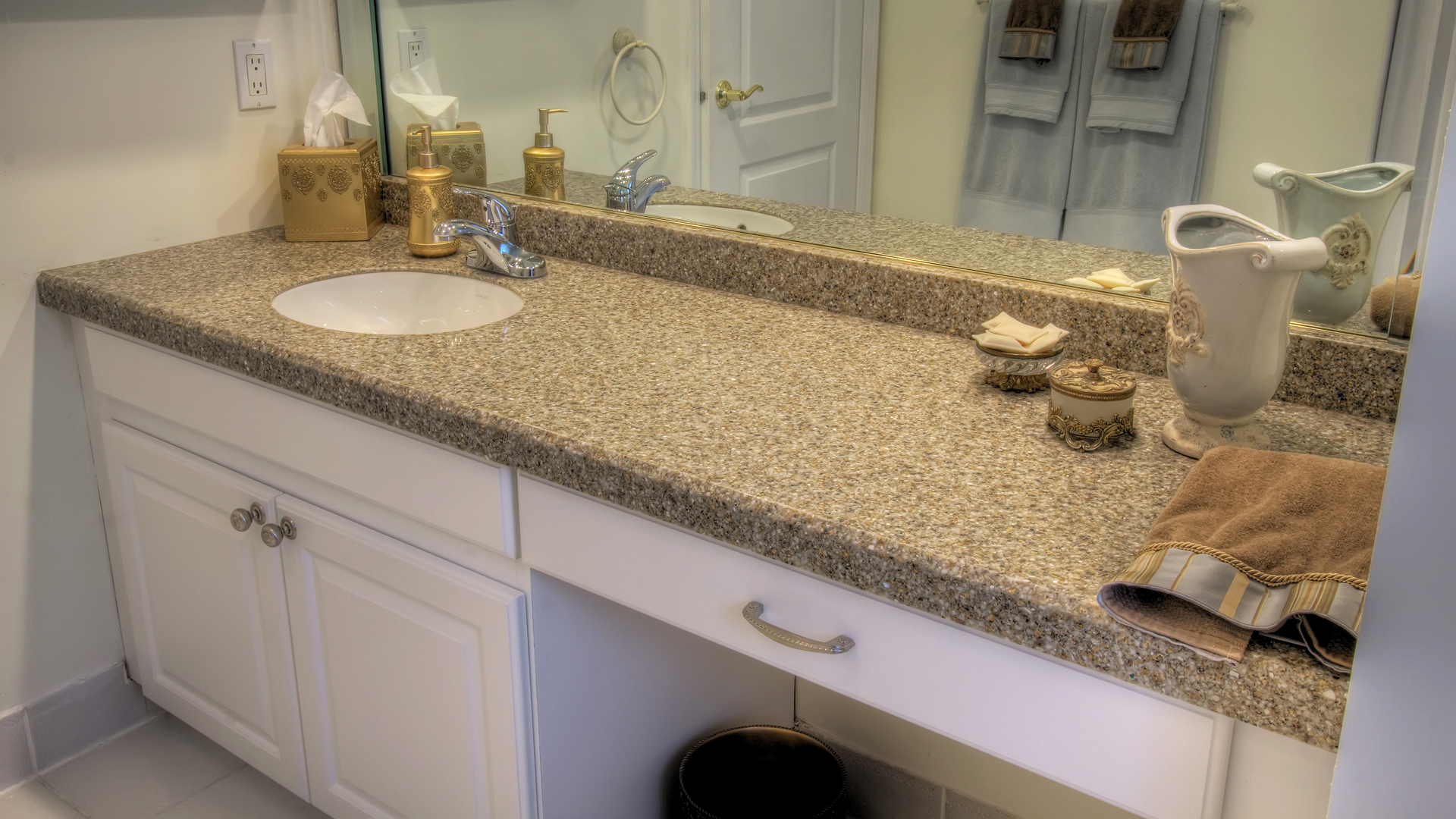 30 interesting bathroom countertop granite tile picture for Bathroom countertops
