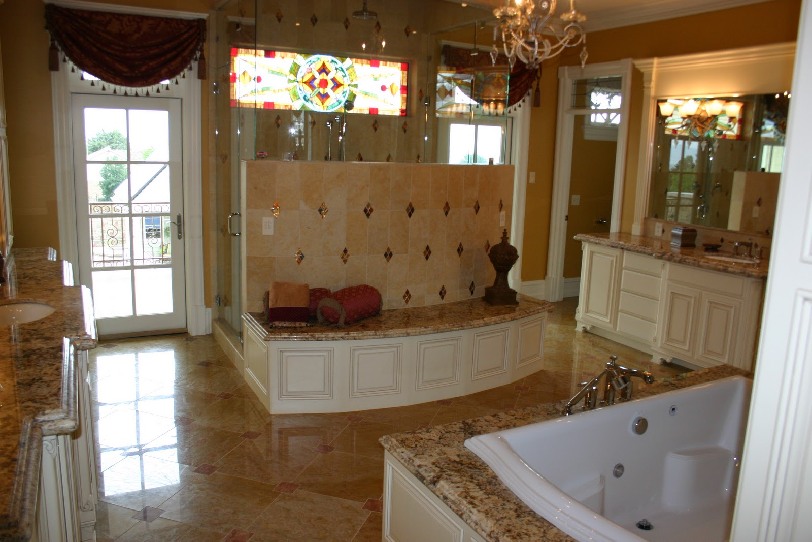 30 amazing ideas and pictures of bathroom tile and granite ...