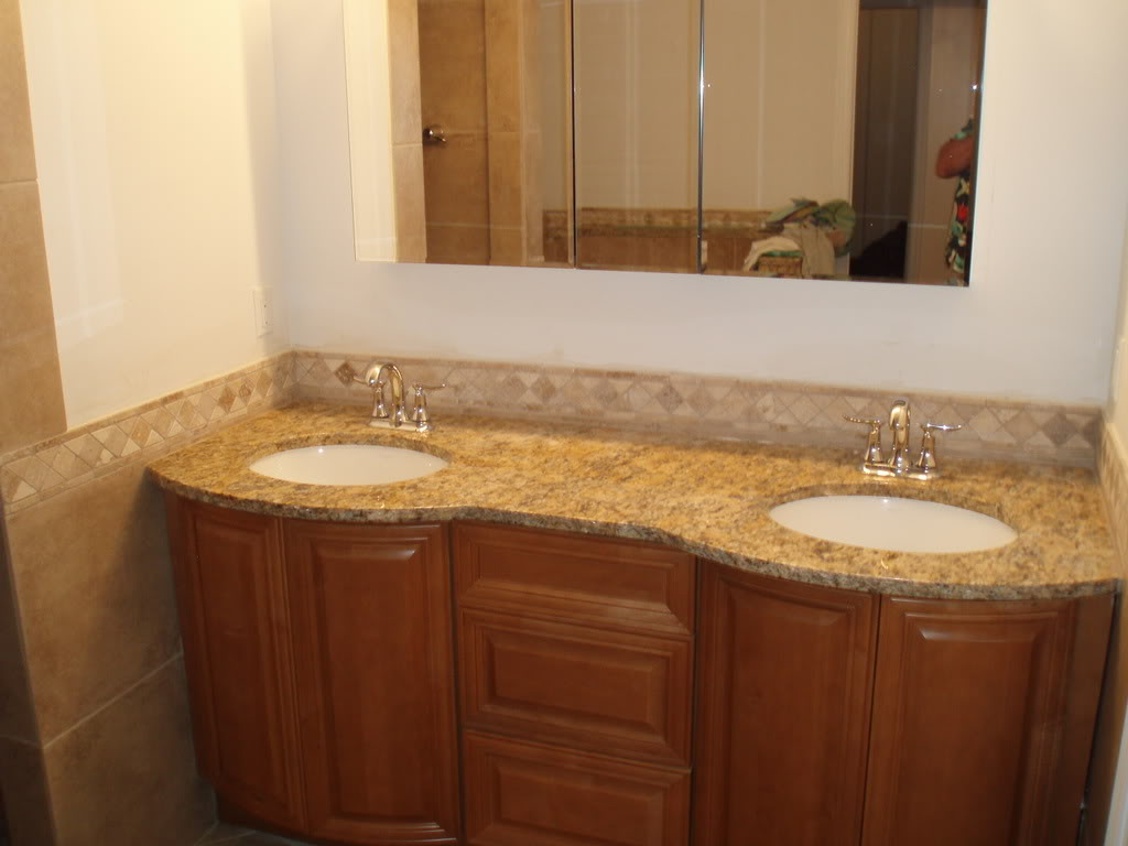 30 amazing granite tiles for bathroom floor ideas and pictures for Bathroom sinks with granite countertops