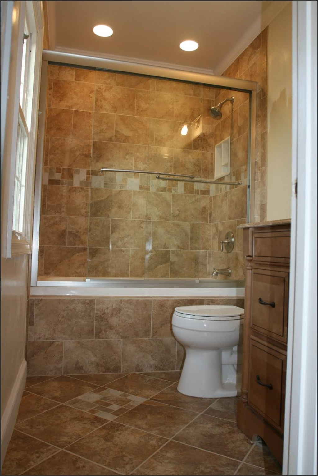 30 great pictures and ideas of neutral bathroom tile for Bathroom remodel ideas with bathtub