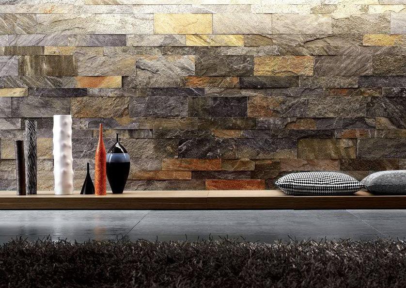 Amazing-Interior-Stone-Veneer-Small-Garden-Waterfall-Stone-Wall-Black-Cushions