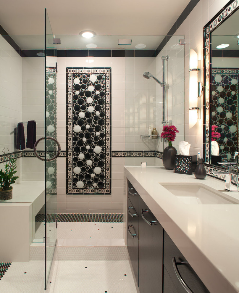 21 great mosaic tile murals bathroom ideas and pictures for Bathroom mosaic design