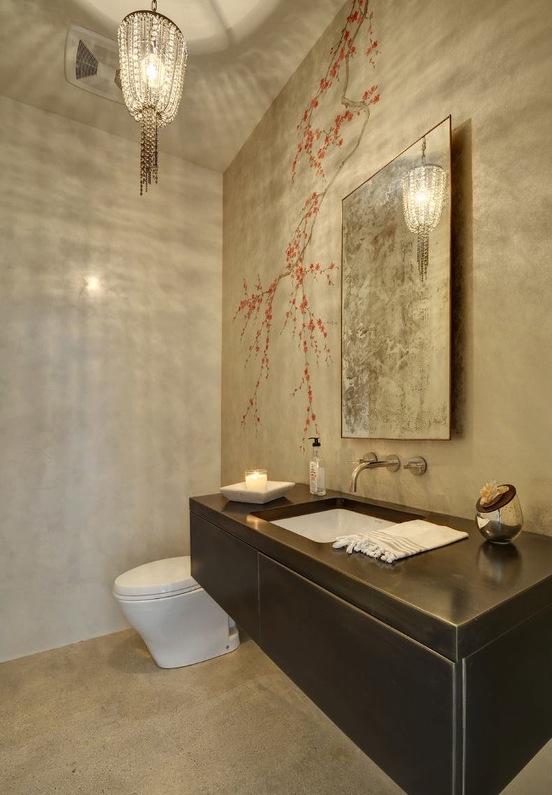 Cherry-blossom-mural-in-a-contemporary-bathroom