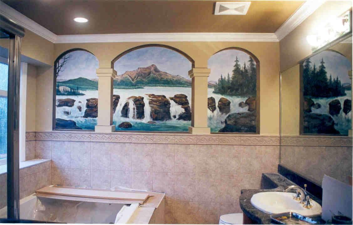 Classic-River-View-Bathroom-Murals