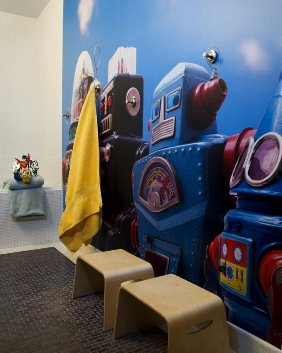 Cool-Kids-Bathroom-Decor-Ideas-with-Robot-Wallpaper-Murals-Designs-915x1143