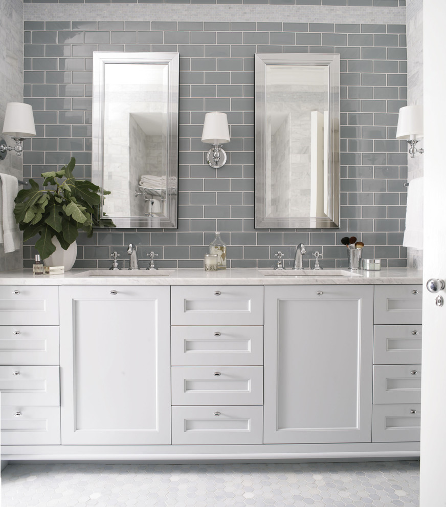 Exquisite-Bathroom-Traditional-design-ideas-for-Grey-Subway-Tile-Image-Decor