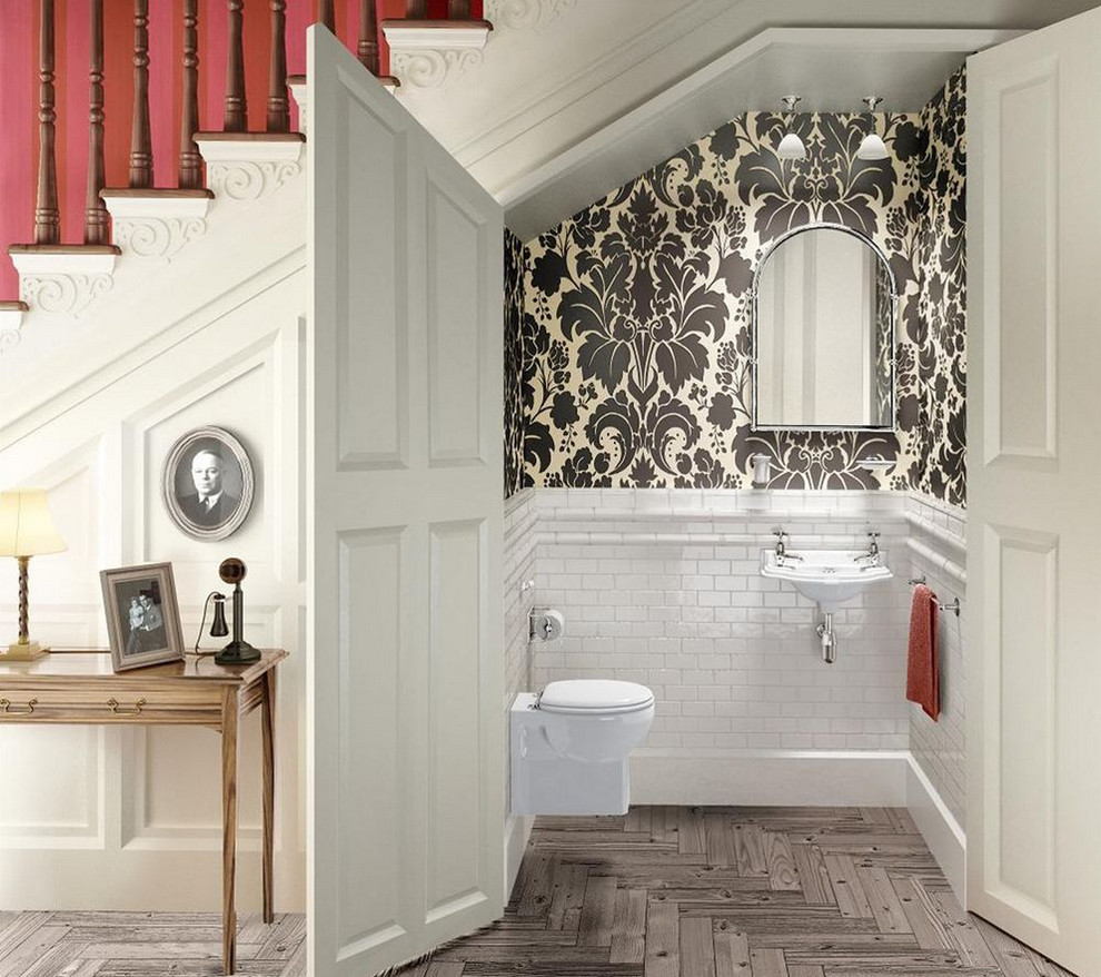 Incredible-Wall-Hung-Toilet-decorating-ideas-for-Bathroom-Traditional-design-ideas-with-Incredible-British-cloakroom-English