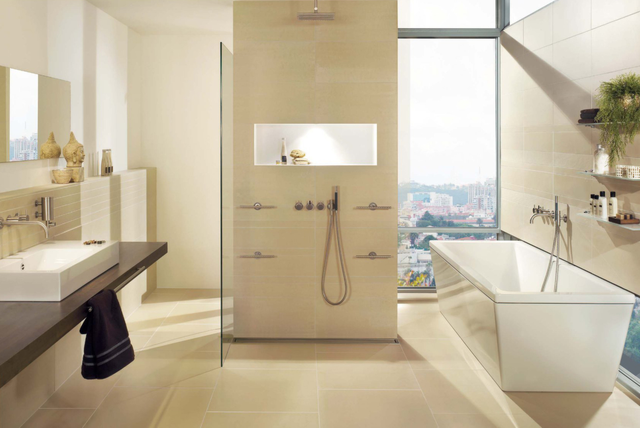 Lounge Ivory bathroom floor and wall tiles