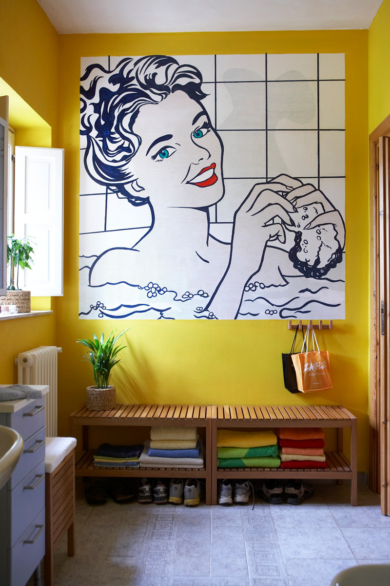 Wonderful Ideas And Pictures Ceramic Tile Murals For Bathroom - Bathroom wall murals ideas