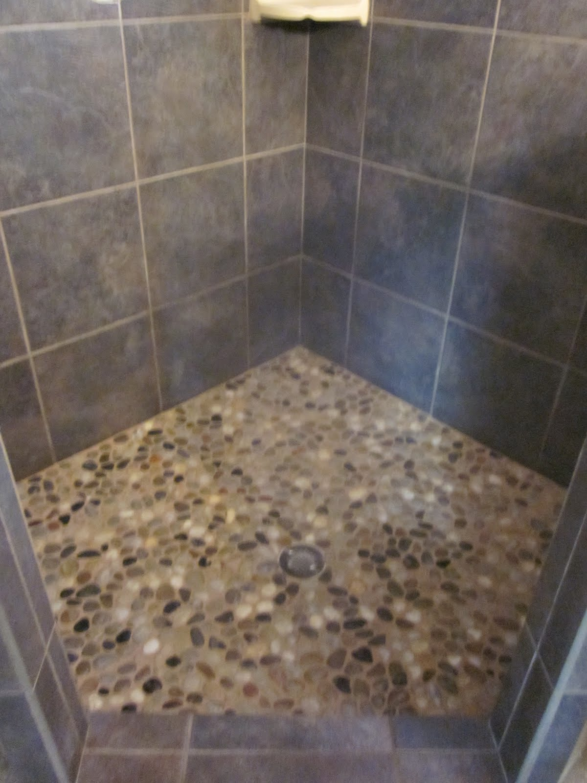 30 cool pictures and ideas pebble shower floor tile pebblestone floor dailygadgetfo Images