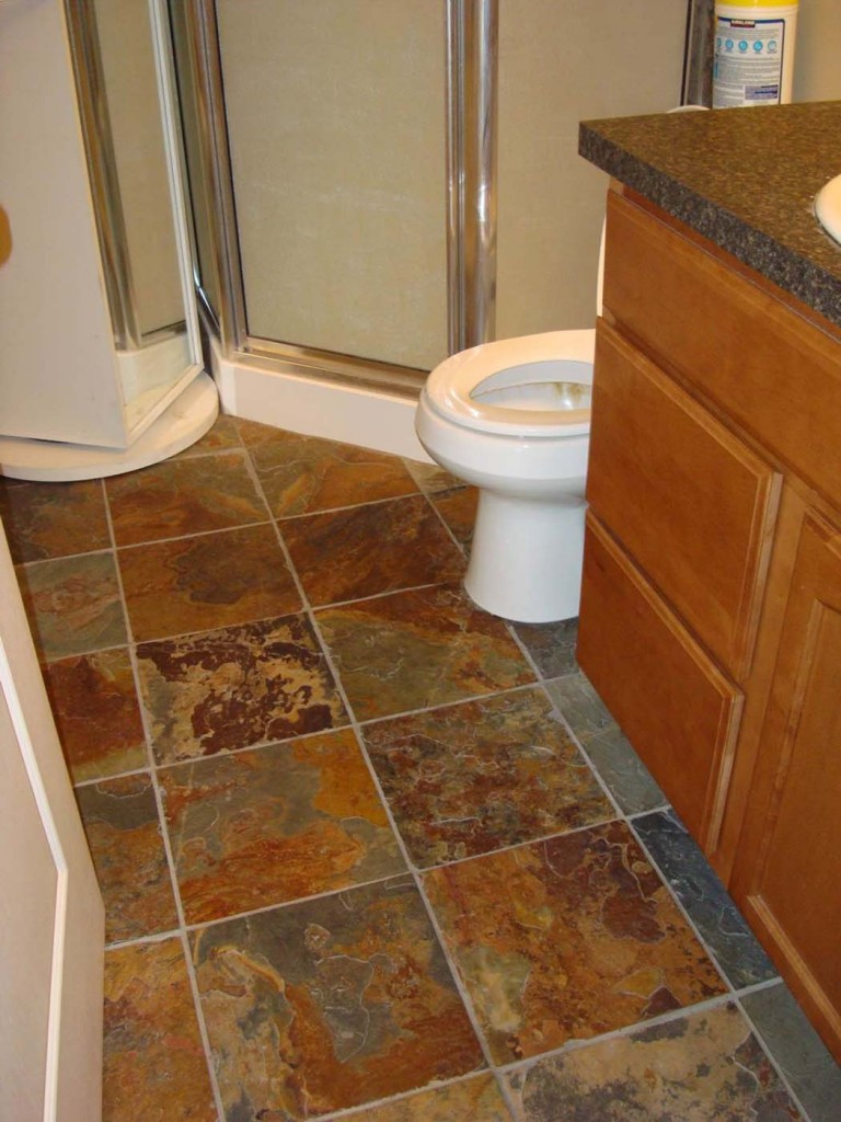 30 pictures of slate tiles for bathroom floor for Slate tile bathroom ideas