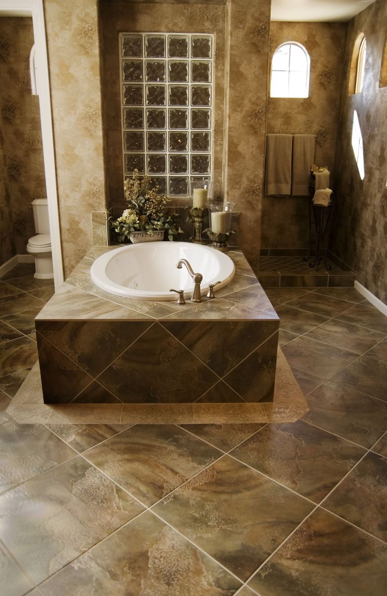 unique bathroom floor tile pictures and ideas