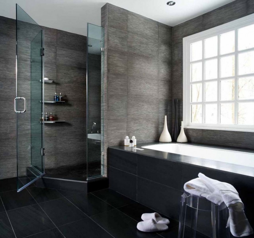 Tiny-Bathroom-Ideas-Modern-Style-Glass-Door-Shower-Room-888x831