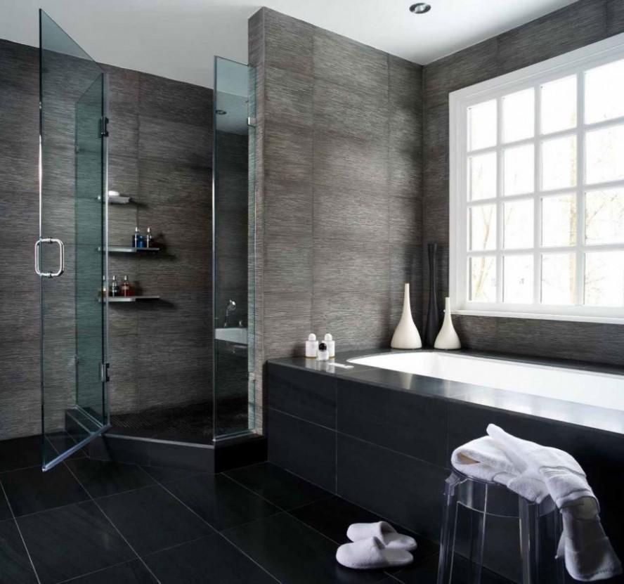 Tiny-Bathroom-Ideas-Modern-Style-Glass-Door-Shower-Room-888x831