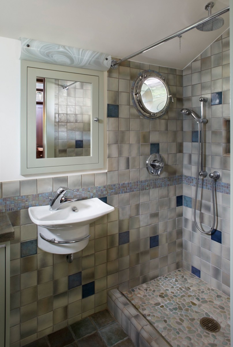 bathroom-fine-small-bathroom-with-mix-green-and-blue-tiles-with-practical-shower-pebbles-pan-and-built-in-towel-bar-fancy-pebble-tile-bathroom-ideas