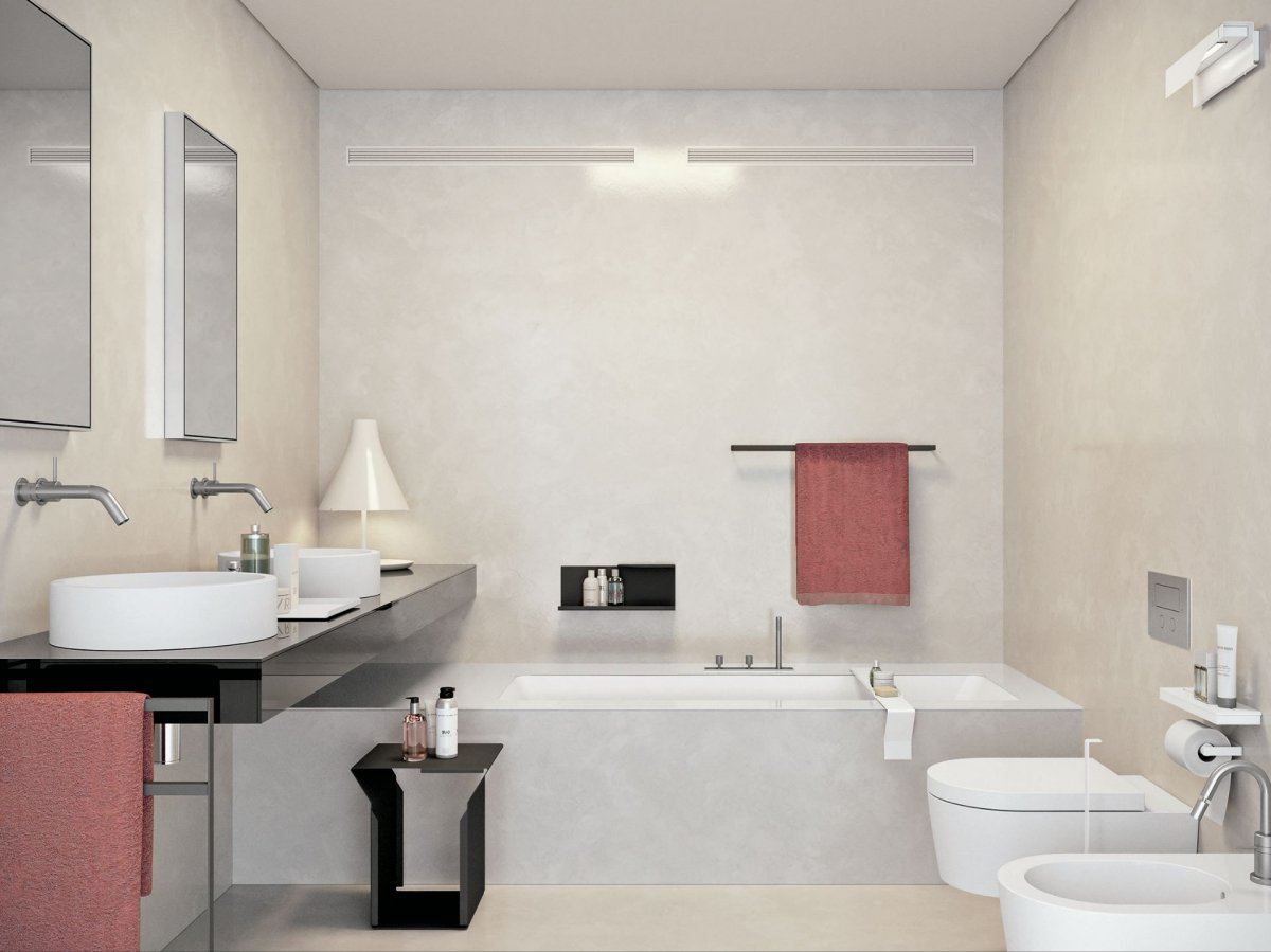 bathroom-interior-furniture-decoration-simple-and-neat-one-piece-toilet-and-white-porcelain-bidet-with-rectangular-soaking-bathtub-also-black-wooden-bath-vanity-artistic-decoration-for-italian-style