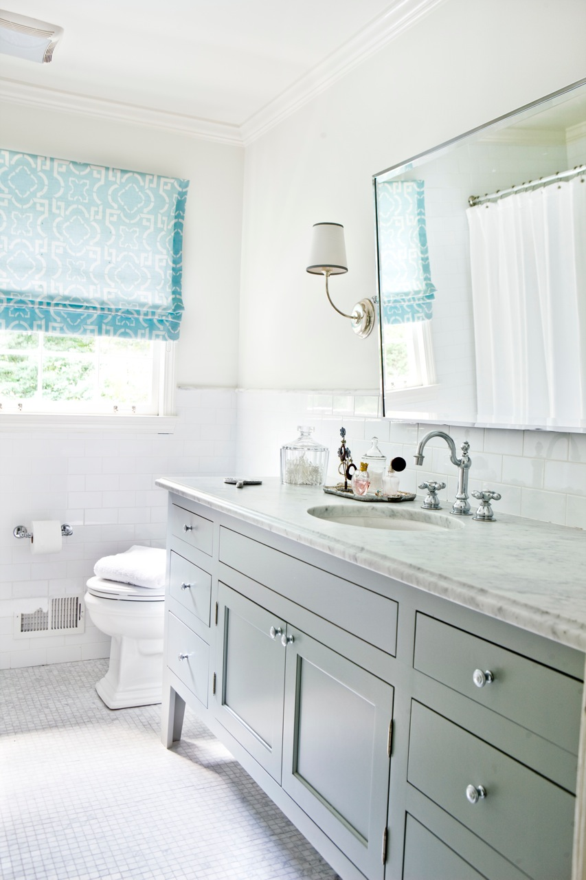 bathroom-winsome-bathroom-decorating-design-ideas-with-white-ceramic-tile-floor-along-wood-double-vanity-and-round-sink-marble-countertop-with-mirror-plus-white-toilet-as-well-as-floor-tile-and-