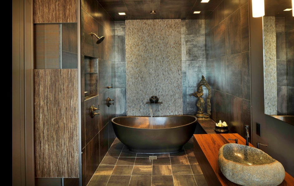 30 Pictures Of Slate Effect Bathroom Wall Tiles