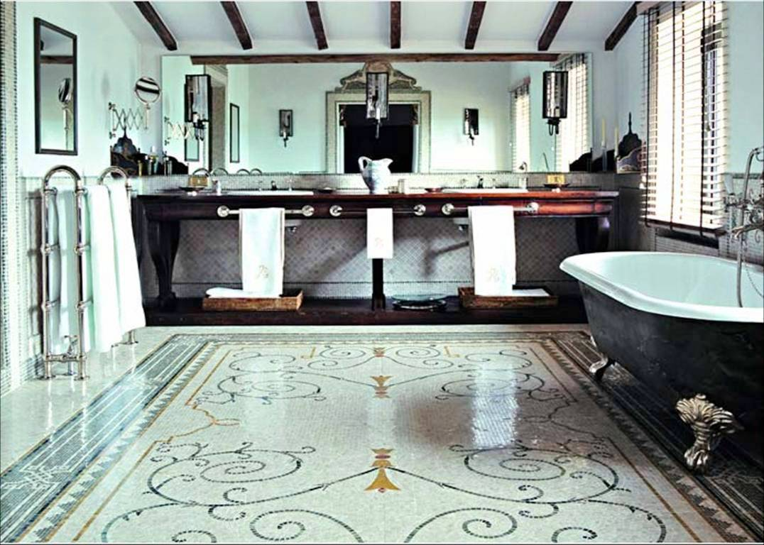 27 wonderful pictures and ideas of italian bathroom wall tiles for Classic floor designs