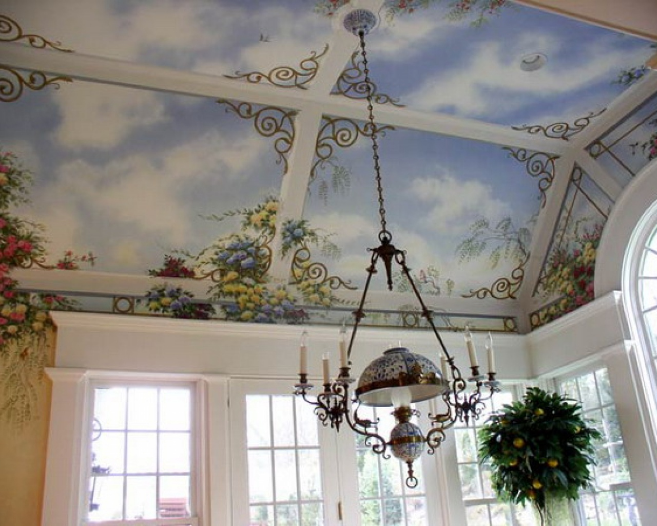 Top ceiling murals wallpaper wallpapers for Ceiling mural wallpaper