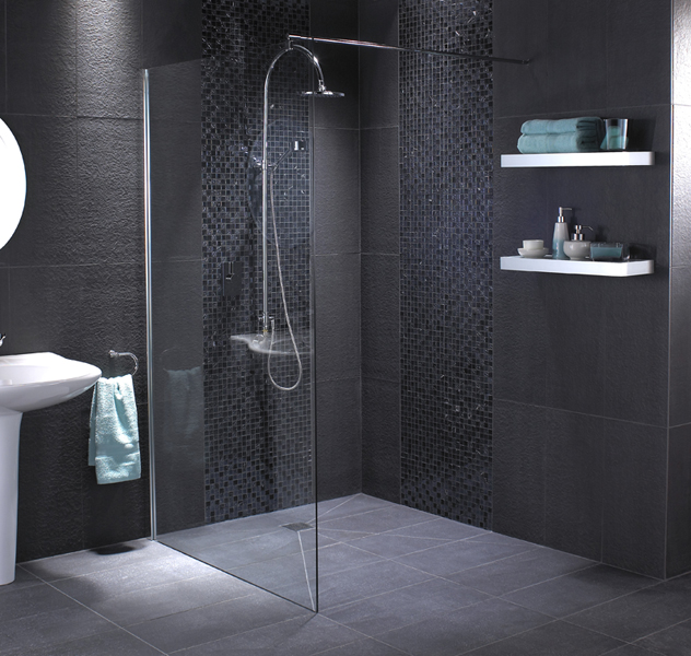 30 pictures of slate tiles for bathroom floor for Best flooring for wet rooms