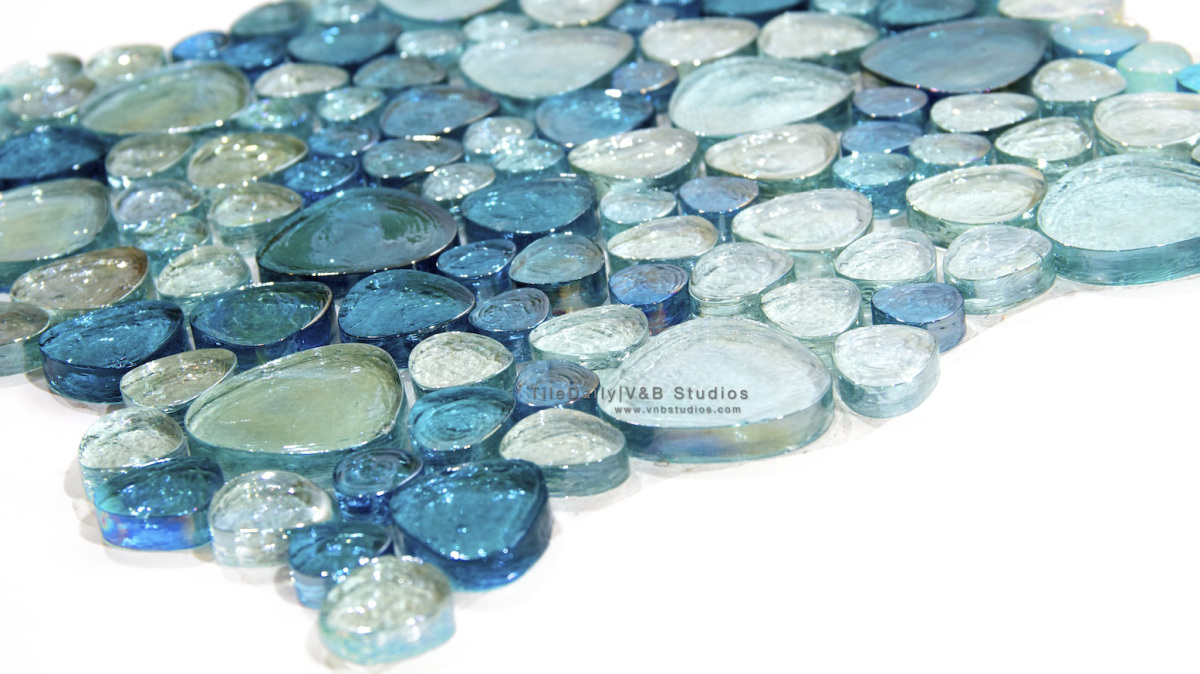 Iridescent Pebble Glass Mosaic