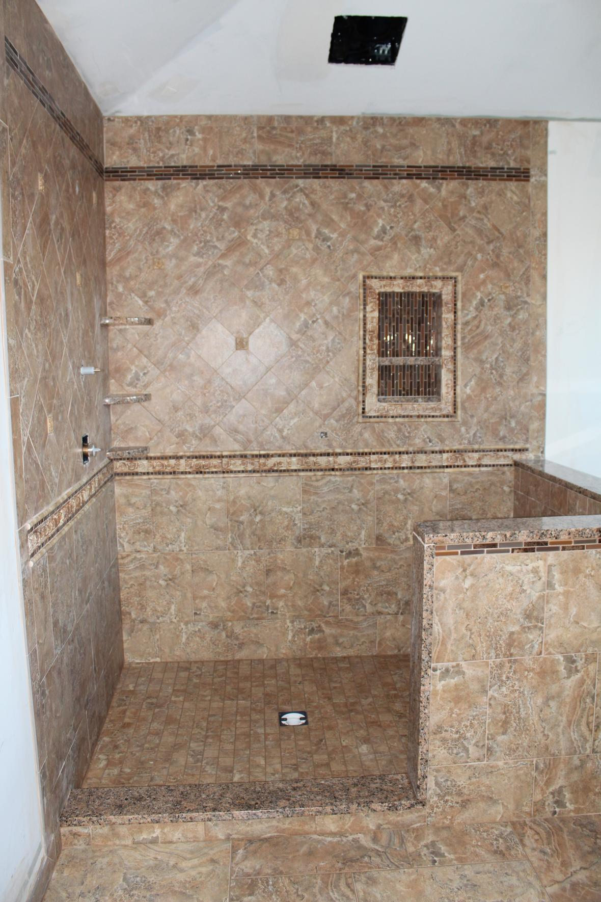 25 wonderful ideas and pictures of decorative bathroom tile borders - Decorative bathroom tiles ...