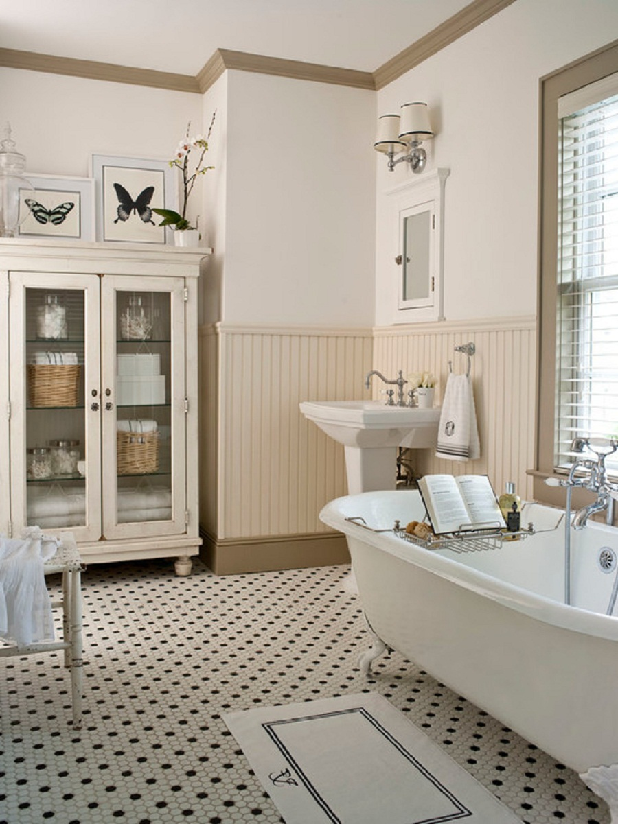 25 great ideas and pictures of traditional bathroom wall tiles for Classic small bathroom ideas