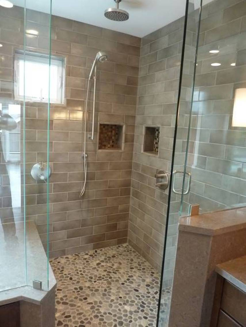 27amazing bathroom pebble floor tiles ideas and pictures Tile a shower