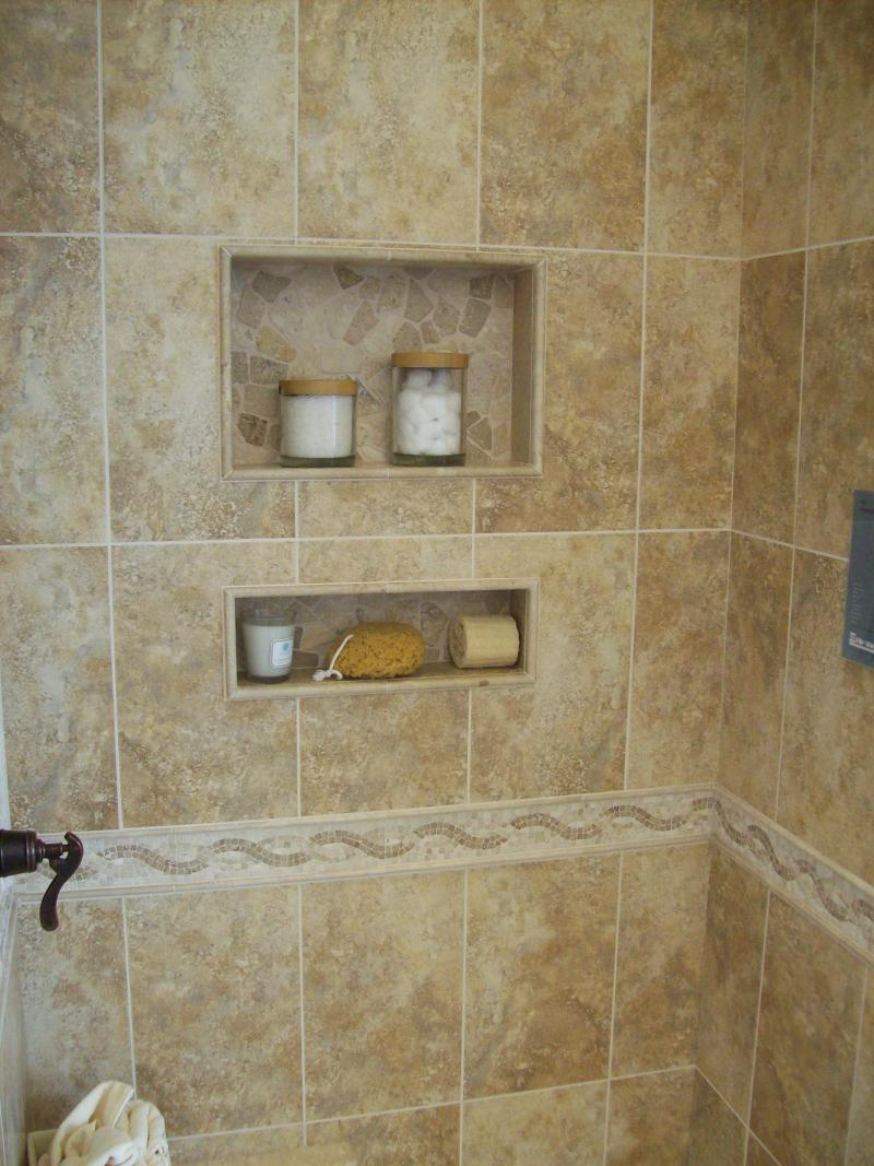 30 amazing ideas and pictures contemporary shower tile design for Pictures of bathroom tiles designs