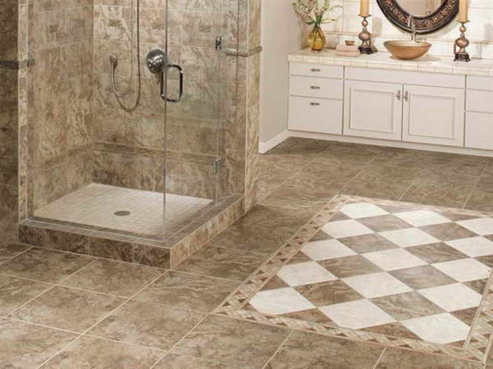 30 beautiful ideas and pictures decorative bathroom tile for Tile floors bathroom