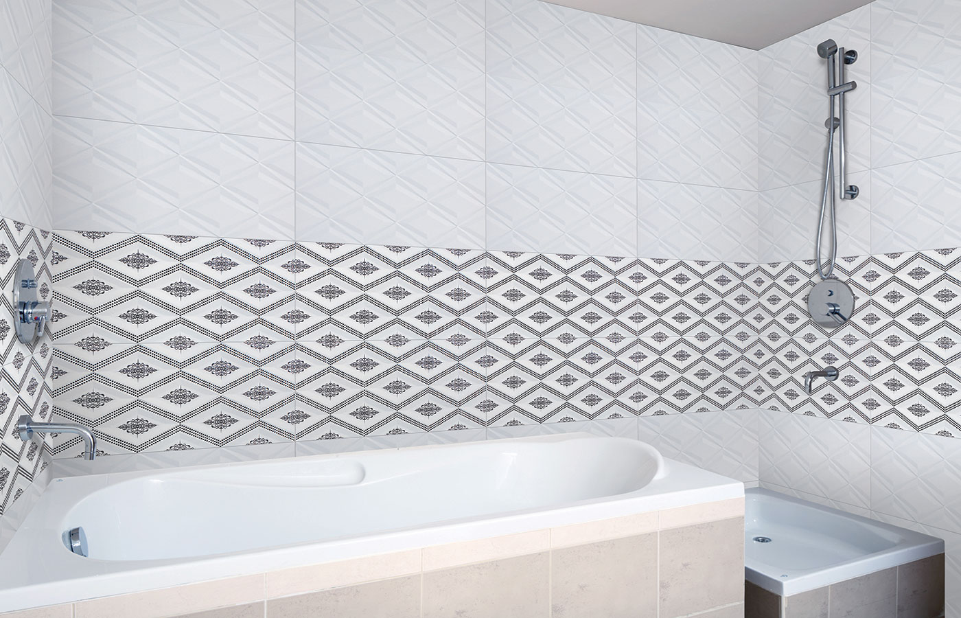 30 cool pictures and ideas of digital wall tiles for bathroom 3 dailygadgetfo Images