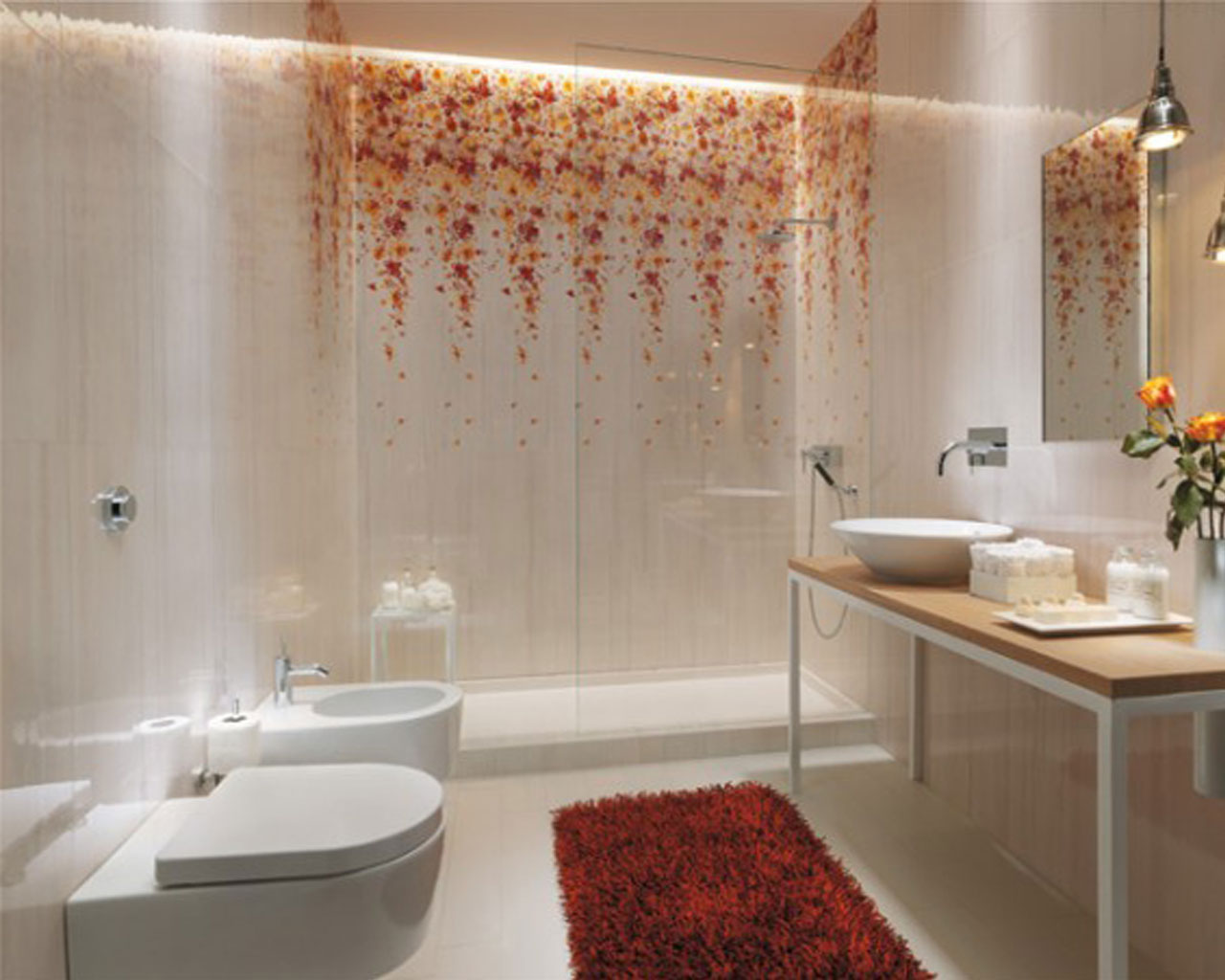 30 nice pictures and ideas beautiful bathroom wall tiles for Bathroom tile designs 2012