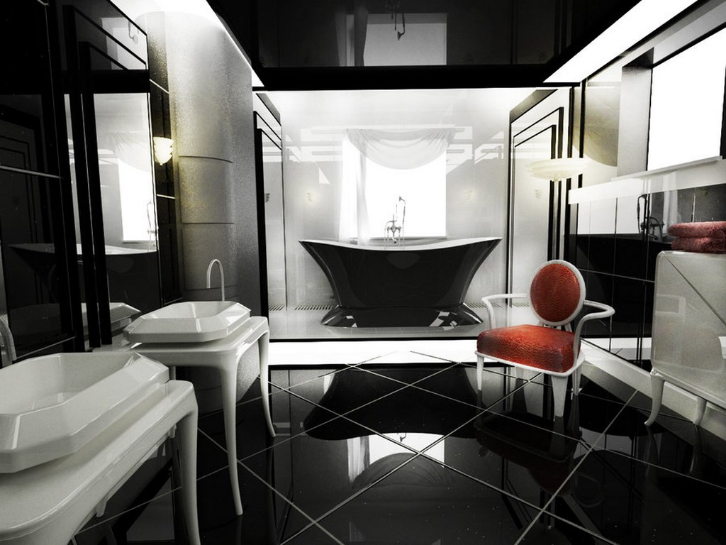 Black-Art-Deco-Bathroom