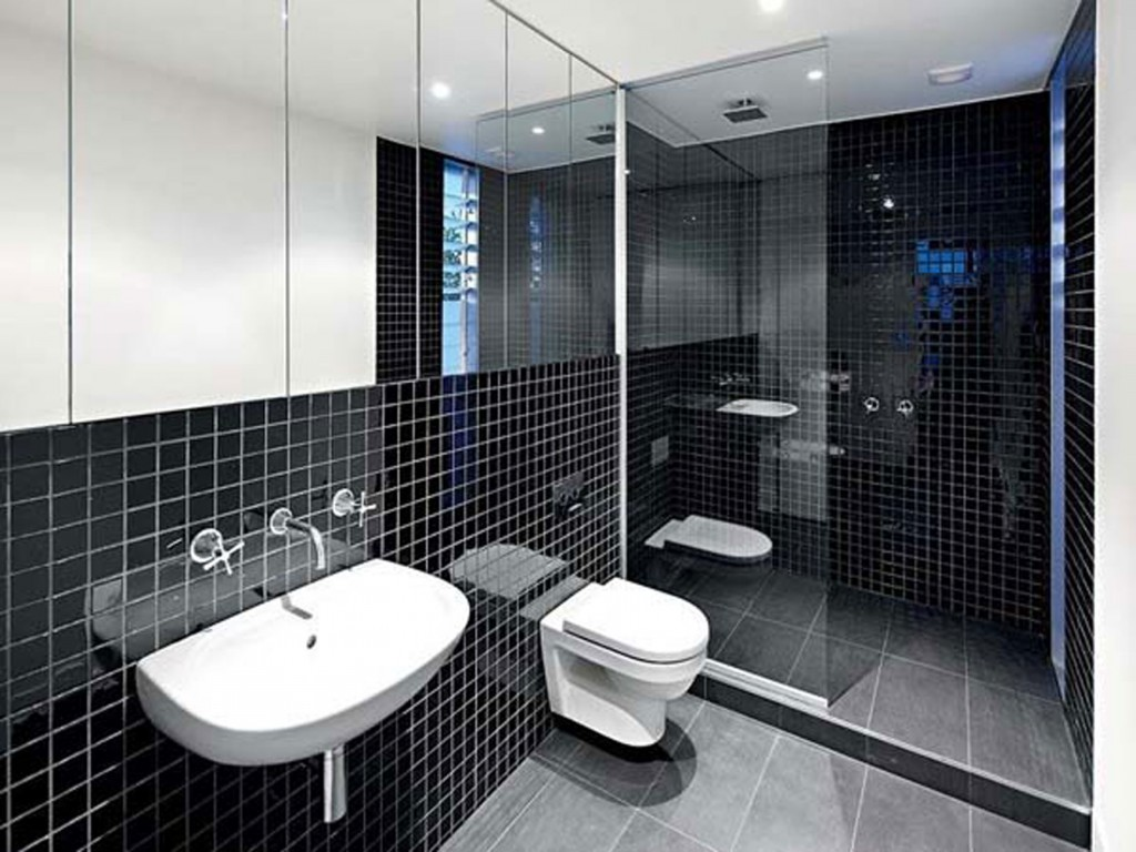 Black and white bathroom wall tiles - Black And White Bathroom Tile Design Ideas 30 Cool Pictures And Ideas Of Digital Wall