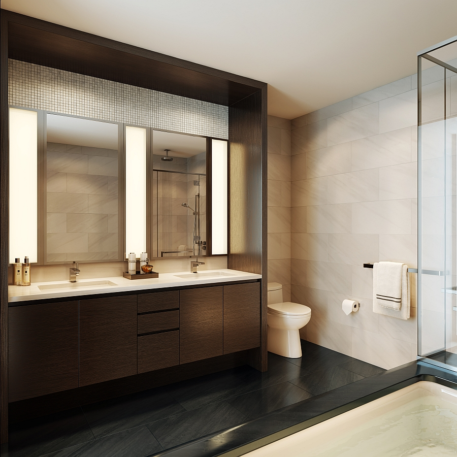 ... Design Luxury Bathroom With White Tile Blends In  ...