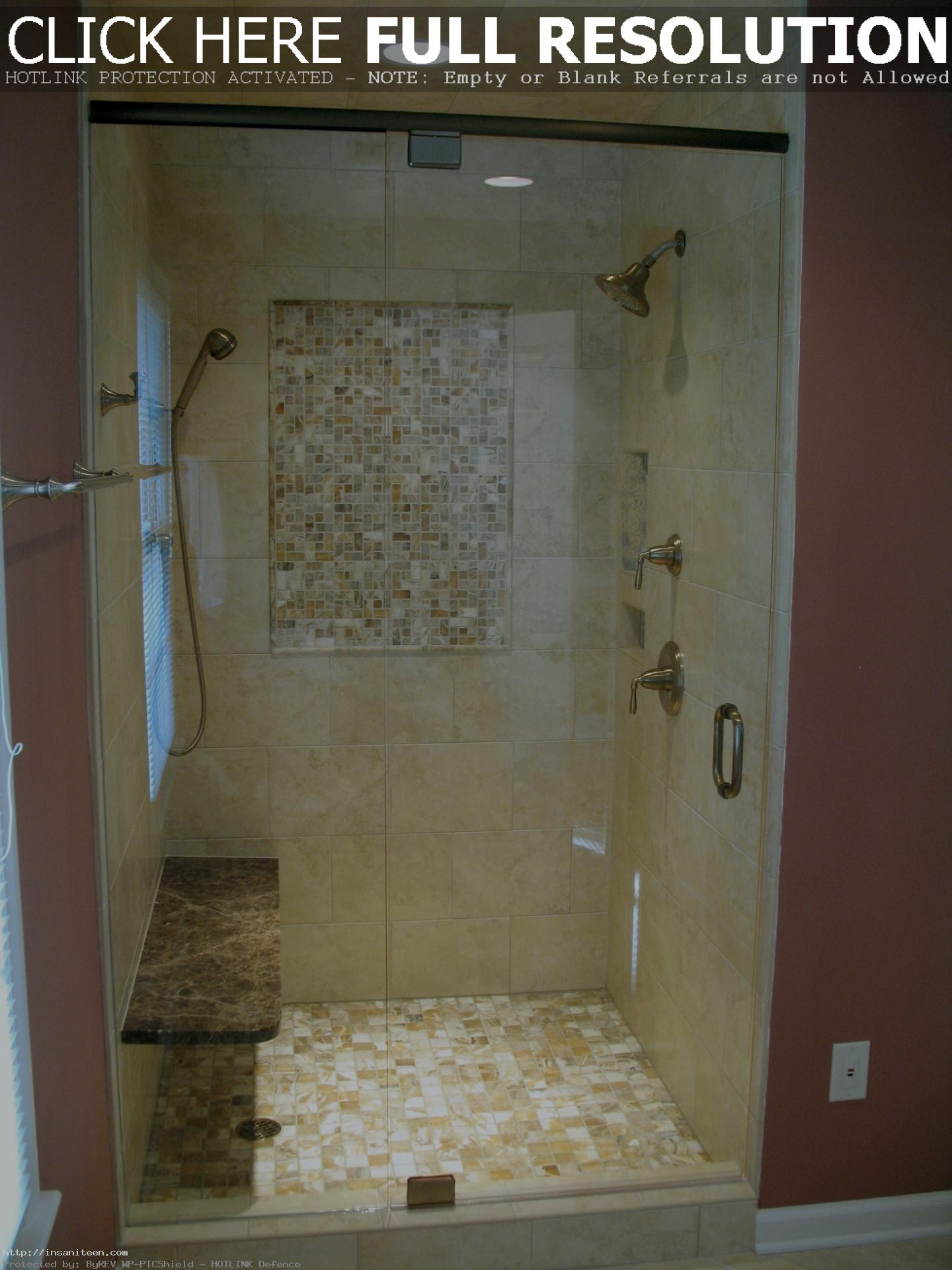 Extraordinary-Baffle-Recessed-Lighting-and-Shower-Designs-with-Glass-Tile-also-Wall-Mounted-Marble-Shower-Bench-in-Apartment-Bathroom-Design