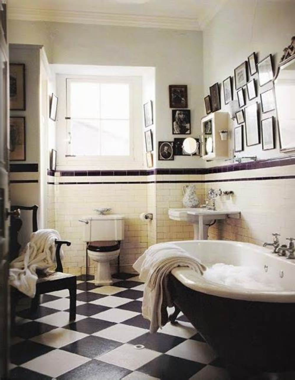 Black and white art deco bathroom - Great Pictures And Ideas Art Nouveau Bathroom Tiles Art Deco Bathroom 30 Great Pictures And