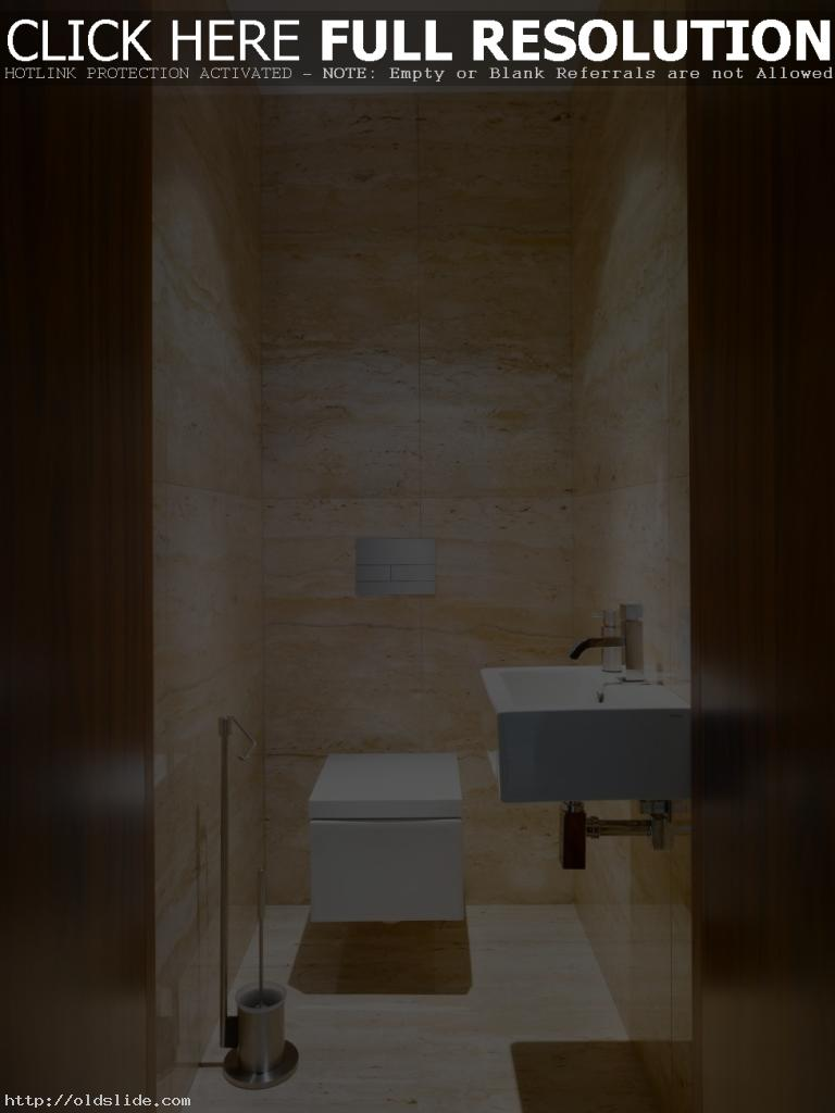Inspiring-japanese-style-bathroom-design-with-elegant-marble-tiles-wall-and-chic-square-toilet