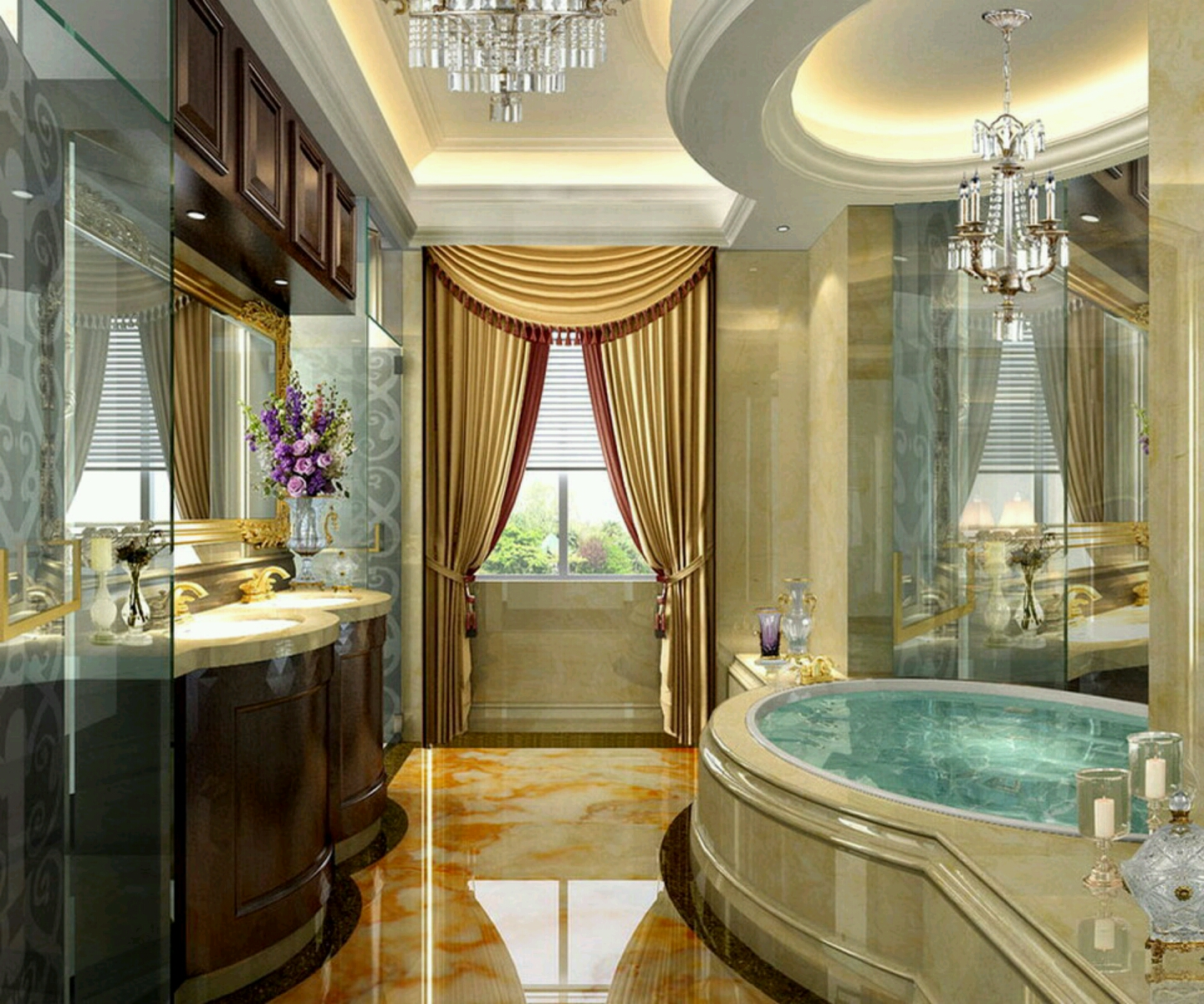 Luxury modern bathrooms designs decoration ideas. (1)