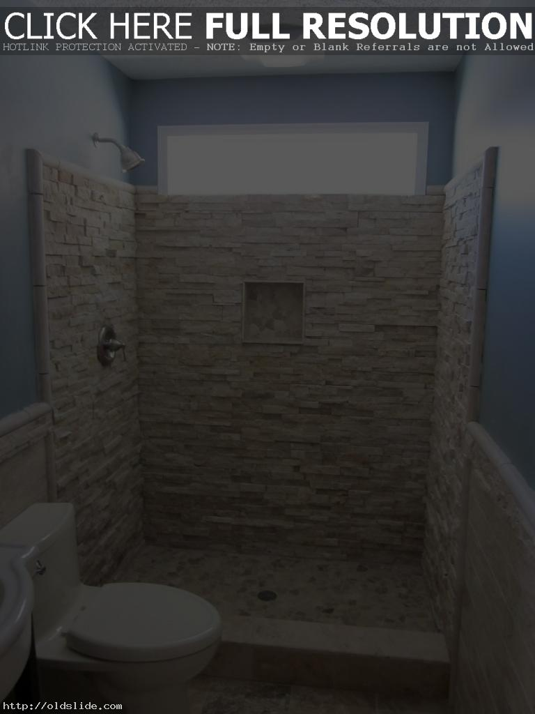 Unique-stall-tile-with-natural-white-stone-bathroom-shower-design-ideas
