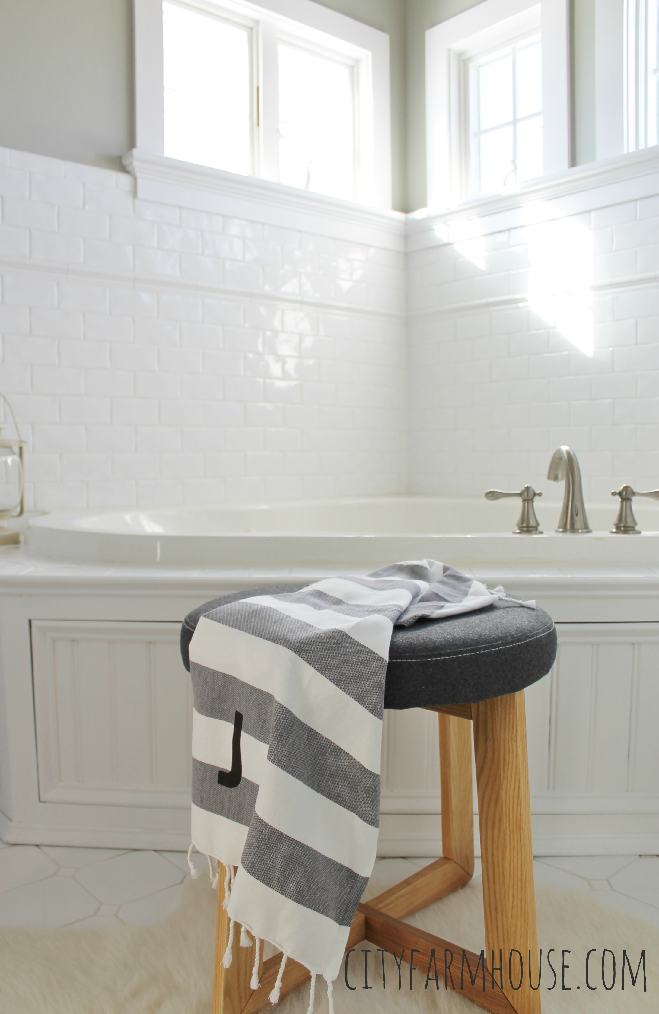 White-Subway-Tile-Classic-Small-Windows-Wall-Color-Olympic-Sprig-of-Ivy-City-Farmhouse