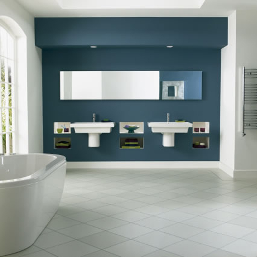 bathroom-bathroom-design-idea-with-white-and-blue-theme-using-floating-white-sinks-also-long-mirror-and-white-bathtub-combine-with-white-tile-floor-bathroom-floor-covering-ideas