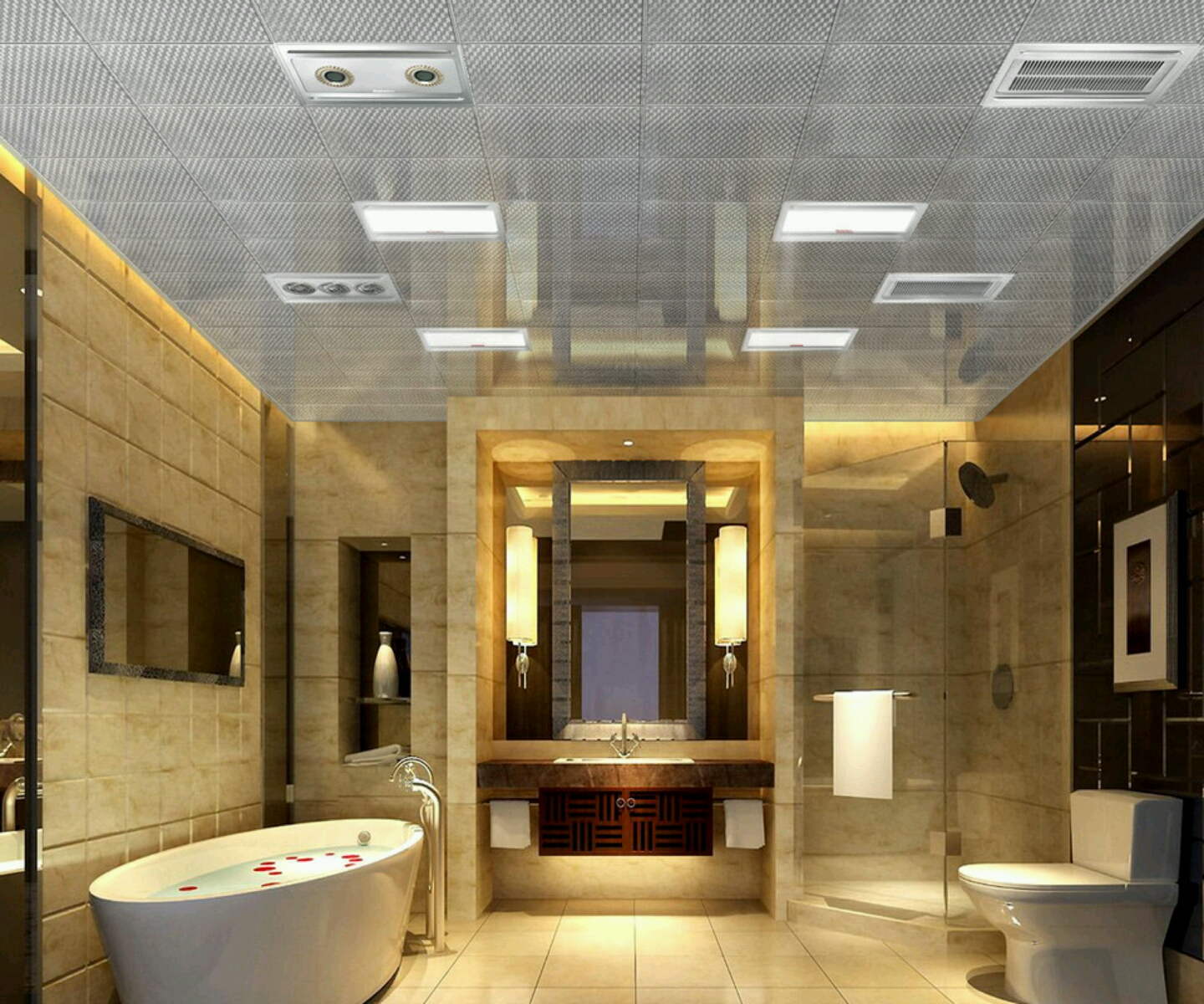 30 beautiful pictures and ideas high end bathroom tile designs for Restroom design ideas