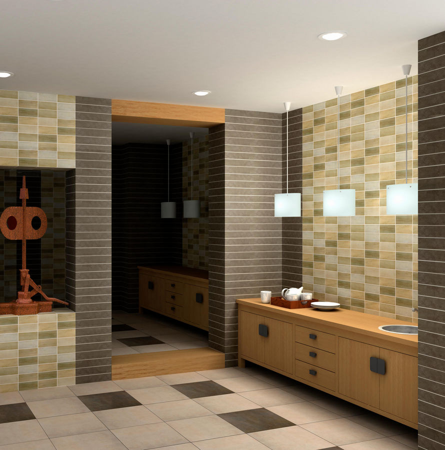 Mosaic Bathroom Tile Ideas: 25 Great Ideas And Pictures Of Iridescent Bathroom Tiles