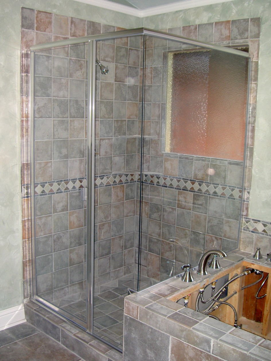 bathroom-epic-bathroom-design-idea-with-natural-grey-tile-wall-and-flooring-of-shower-stall-designed-with-glass-door-complete-with-bathtub-using-stainless-faucet-bathroom-shower-stall-tile-designs