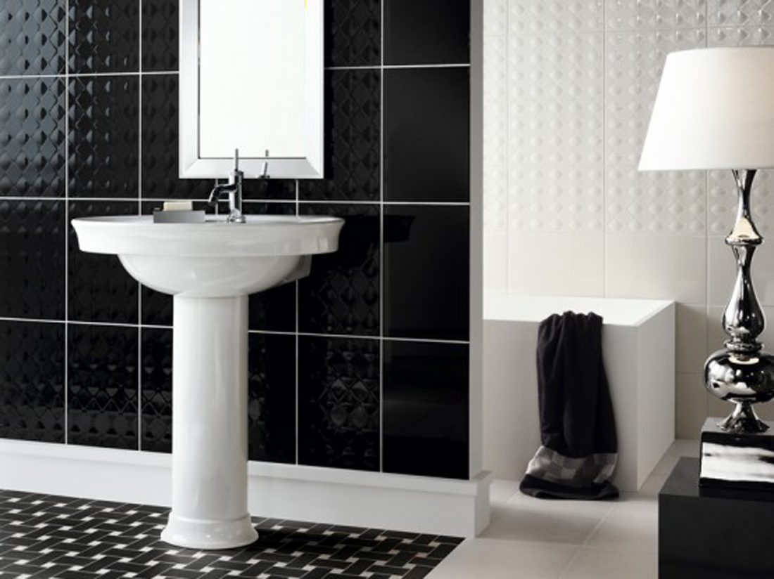 bathroom-fabulous-small-black-and-white-bathroom-decoration-using-black-high-end-bathroom-tile-including-white-ceramic-pedestal-bathroom-sinks-and-white-basket-weave-tile-bathroom-flooring-interactiv