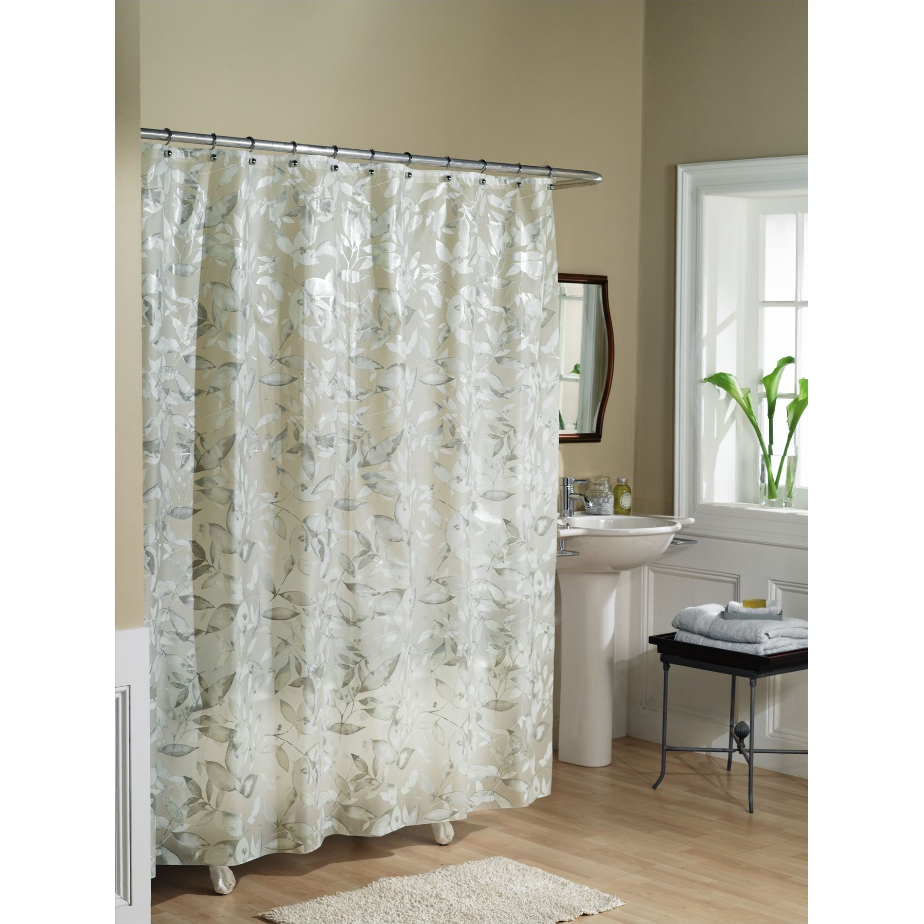 White shower curtain ideas - Decorative Ceramic Tiles For Bathroom