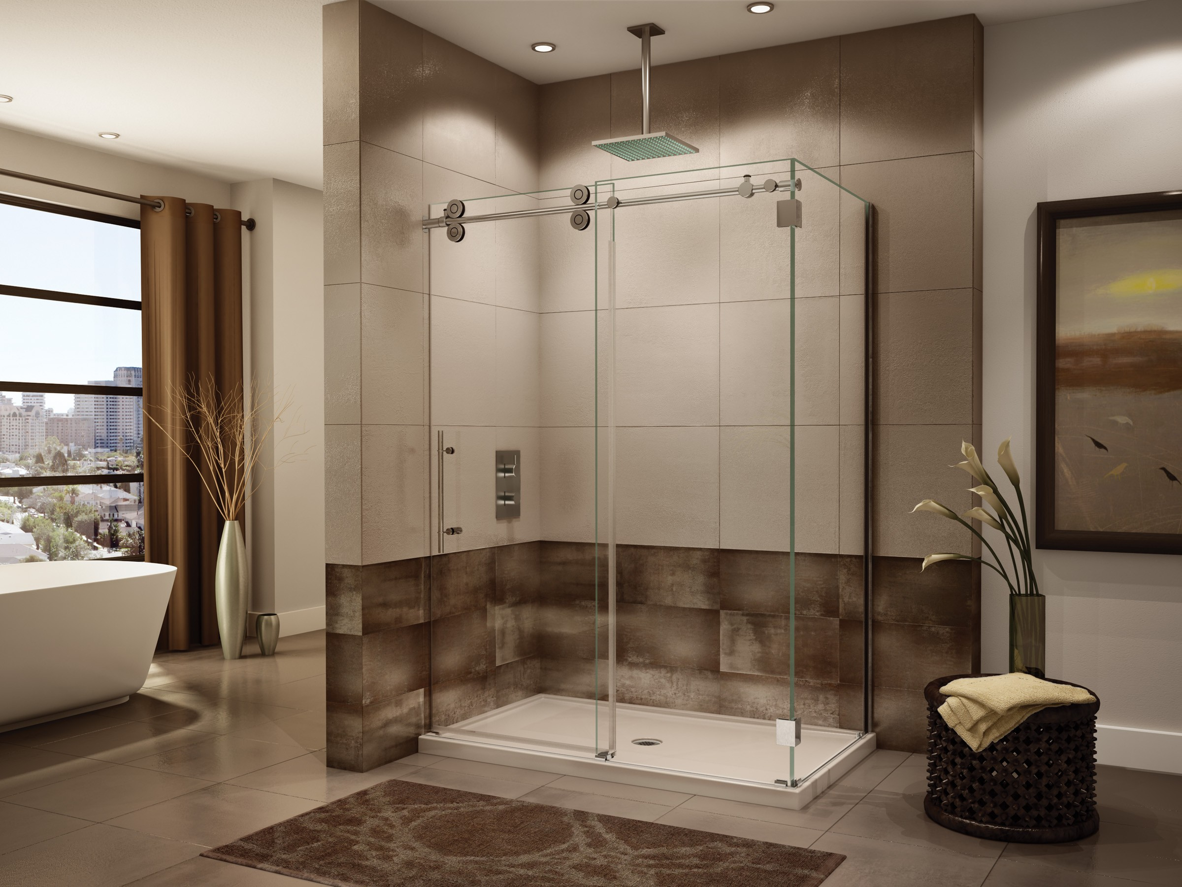 Bathroom Interior Shower Door Ideas Decorative Glass Shower