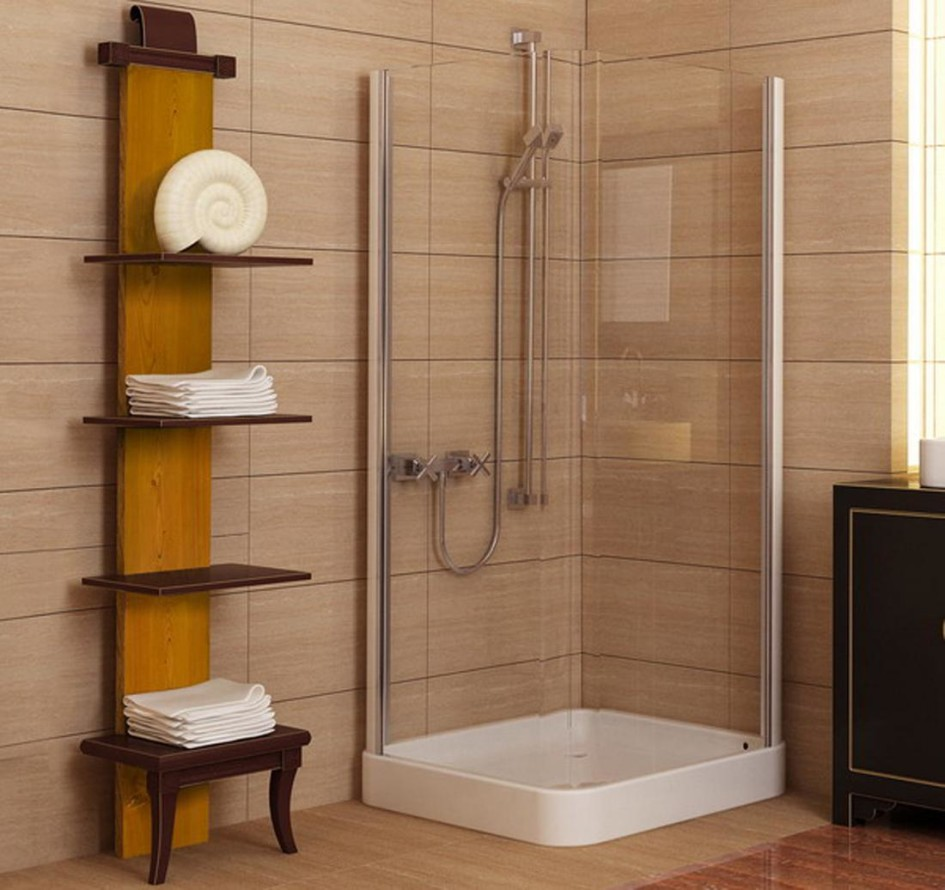 bathroom-new-decorative-bathroom-tile-ideas-for-small-bathrooms-complete-with-shower-pan-plus-glass-wall-and-brown-towel-racks-and-combine-with-brown-floor-small-bathroom-tile-ideas-designs-945x890